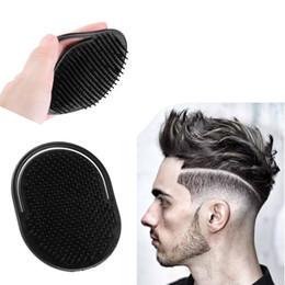 $enCountryForm.capitalKeyWord Australia - black Shampoo Comb Pocket Men Beard Mustache Palm Scalp Massage Black Hair Care Travel Portable Hair Comb Brush Styling Tools