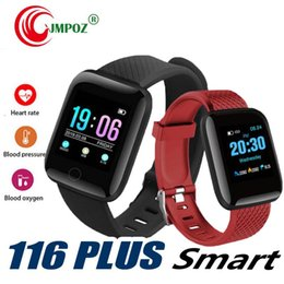 $enCountryForm.capitalKeyWord Australia - 116 Plus Smart watch Bracelet Fitness Tracker Heart Rate Step Counter Activity Monitor Band Wristband PK 115 PLUS for apple samsung Android