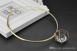 Crystal For Women Australia - new Statement necklaces geometric crystal pendant necklaces collarbone European and American fashion Chokers necklaces for women