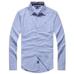 $enCountryForm.capitalKeyWord Australia - Fashion-Men Dress Shirts Brand Clothing Fashion Casual Men Shirt Slim Fit Long-Sleeve Solid Black White Shirts
