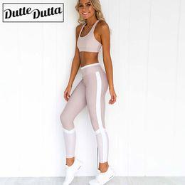 Tute da donna Abbigliamento sportivo da donna Palestra Abbigliamento fitness Yoga Fitness Tute sportive Abbigliamento Abiti Leggings Set da yoga in Offerta