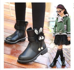 $enCountryForm.capitalKeyWord NZ - KW503 High Girls Leather Boots Chaussure Enfant Children Boots Girls Boys Winter Shoes Kids Rain Boots PU Leather