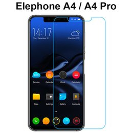 a4 cases 2019 - Explosion-proof Tempered Glass For Elephone A4 Film Protective Screen Protector for Elephone A4   PRO Case Cover Phone F