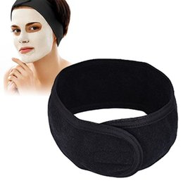 Wholesale Women Spa Bath Shower Wash Face elastic Head turban Ladies Cosmetic Yoga Headband Cloth Towel bandana Make Up tiara Hair Band