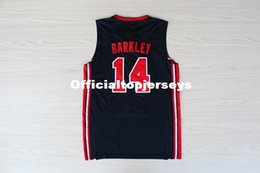 Discount college basketball usa - Retro College Stitched 10 Clyde Drexler 11 Karl Malone 14 Charles Barkley 1992 dream team usa Basketball Jersey vest Jer