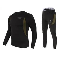 Elastic Army Shirt Australia - Tracksuit Printed T-shirts Mens Compression Shirt Pants Set Running Tights Long Sleeves Shirts Leggings Sport Sports Underwear