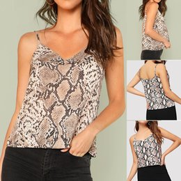 ddd43adbd2454e YOUYEDIAN 2019 Fashion Camis Women Sexy V-Neck Snake Skin Print Casual  Straps Crop Sling Camis Top