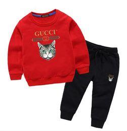575a19d06 Classic Luxury Logo Designer Baby t-shirt Pants coat jacekt hoodle sweater  olde Suit Kids fashion Children's 2pcs Cotton Clothing Sets GA220