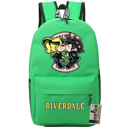 $enCountryForm.capitalKeyWord NZ - Kiss backpack Riverdale lover daypack Archie Andrews Betty Cooper schoolbag TV play print rucksack Sport school bag Outdoor day pack