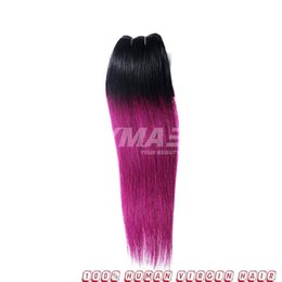 ombre purple hair color NZ - VMAE Ombre Color Brazilian Remy Virgin Human Hair Weft 1B Purple 3 Bundles Silky Straight Hair Extensions Weaves For Dark Hair Girls