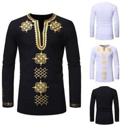 $enCountryForm.capitalKeyWord Australia - HEFLASHOR Men African style Traditional Dashiki Long Sleeve Shirt Design Men Shirt Spring Autumn Clothing Chemise Homme