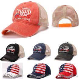 $enCountryForm.capitalKeyWord Australia - Make America Baseball Cap Trump 2020 President Hats Net Cap Rivet Diamond Bling Sports Ball Hat Travel Beach Sun Hat Party Hats HH9-2218
