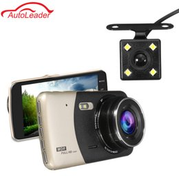 camera rearview mirror full hd UK - Freeshipping 4 Inch Car DVR Recorder Dash Camera Full HD 1080P Video 170 Degree Dash Cam Camera