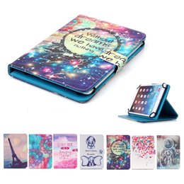 7 Wifi Tablet Australia - Universal 7 inch Tablet Case for iPad Mini 4 3 2 Cover kickstand PU Leather Flip Cover Cases Cartoon Printed Tablet PC Bags
