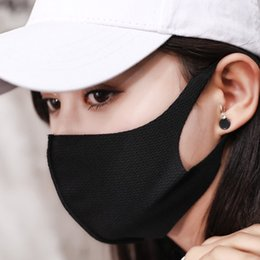 Cover mouths online shopping - Sand mask PC Unisex Black Mask Soft Cotton Winter Breathing Mask Anti Dust Earloop Mouth Face Cover Outdoor Riding