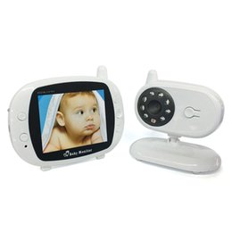"Lcd Baby Monitor Two Cameras UK - Video Baby Monitor with Camera,3.5"" Large LCD Screen,Two-Way Talk Back, Room Temperature Display, Lullabies, Private Data Protection"
