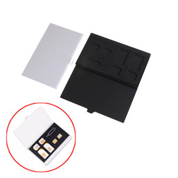 Sim card caSe holderS online shopping - 1pc Aluminum Alloy Card Pin SIM Card Holder Protector Storage Box Case