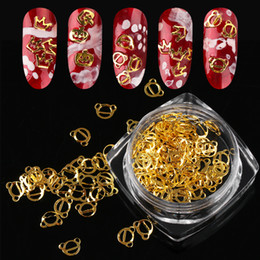 $enCountryForm.capitalKeyWord NZ - 100PCS Box Gold Nail Sequins Metal Flakie 3D Decoration Crown Pumpkin Bear Studs Accessories Manicure Nail Art Tips Decal NEW