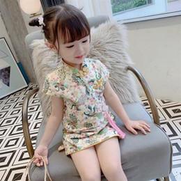 $enCountryForm.capitalKeyWord Australia - fashion Girls Cheongsam dress princess Retro skirt Chinese style summer dresses Chinese clothing flower fairy show dress chiffon clothing