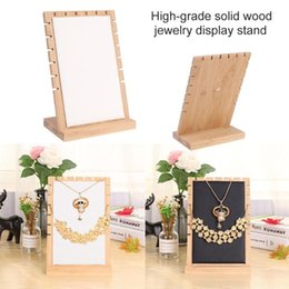 Wood necklace holder online shopping - Wood PU Detachable Jewelry Display Stand Fashion Necklace Bracelet Holder Showcase Display Rack