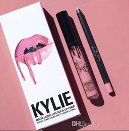 $enCountryForm.capitalKeyWord UK - 41 colors KYLIE JENNER matte lip gloss hot lip liner fashion lipstick lipgloss lipliner Lipkit Velvet Makeup liner