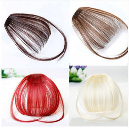 Black Color Hair Clips NZ - Fake Bangs Clip-In Hairpiece Black Brown Blonde Synthetic Bangs Hair Extensions For Women Blunt Bangs Pure Color