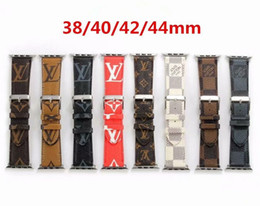 Luxury Leather Watchbands for Apple Watch Band Iwatch 38mm 42mm 40mm 44mm iwatch 2 3 4 Bands Leather Sports Bracelet Designer Watch Band from new paintball suppliers