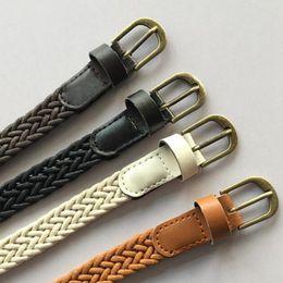 $enCountryForm.capitalKeyWord Australia - New Fashion Brief Knitted Candy Colors Womens Belt Rope Braid Belt Female For Dress High Quality Wild For Female