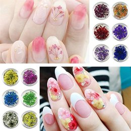 Beautiful nail acrylic online shopping - 12 Boxes Nail Dried Flower D Beautiful Nail Art Sticker Accessories Supplies Applique Decals for Ladies