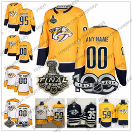 Wholesale Custom Nashville Predators White Yellow Jersey Any Number Name men women youth kid Blue Simmonds Granlund Josi Boyle Matt Duchene