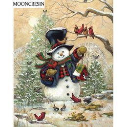 $enCountryForm.capitalKeyWord NZ - wholesale Embroidery Snowman Needlework Diy Diamond Painting Birds Cross Stitch Full Rhinestone Of Picture Decoration Home