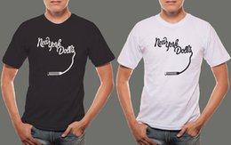 Black Lipsticks Australia - New York Dolls *Lipstick Logo Hard Rock Band Logo Men's Black & White T shirt