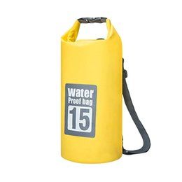 $enCountryForm.capitalKeyWord UK - Waterproof Dry Bag PVC Roll Top Waterproof Backpack Gear Bag for Drifting Boating Rafting Swimming and Camping -Yellow (15L)