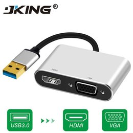 7 hdmi Australia - High Quality USB 3.0 to HDMI VGA Adapter Dual Display USB to VGA HDMI Converter Cable for 1080P MacBook Windows 7 8 10 Computer