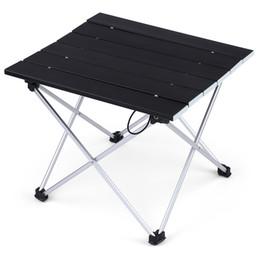 Folding Computer Tables Australia - Portable Foldable mini Table Camping Outdoor Furniture Computer Bed Tables Picnic Aluminium Alloy Ultra Light Folding car Desk