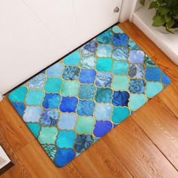 Lighting ideas online shopping - New Anti Slip Carpets Fashion ideas Color Geometry Print Mats Bathroom Floor Kitchen Rugs x60 or x80cm