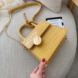 Silver Shoulder chain for purSe online shopping - Quality Stone Pattern Leather Crossbody Bags For Women Designer Small Handbags Chain Shoulder Messenger Bag Mini Purses Hand Bag MX190816