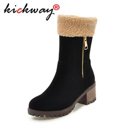 $enCountryForm.capitalKeyWord Australia - Women Snow Boots Faux Fur Hoof Heels Warm Fur Inside Solid Winter Boots Female Shoes Woman Plus Size 34-43 Drop Ship