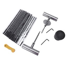tire patch kit 2019 - 27pc Tire Repair Kit Diy Flat Tire Repair Car Truck Motorcycle Home Plug Patch Plug Kit discount tire patch kit