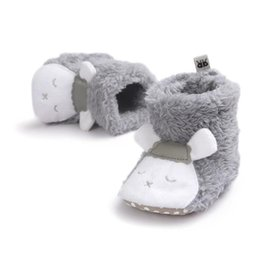 Slipper Sheep online shopping - Newborn Boys Girl Shoes Children Winter Boots Winer Warm Thick Baby First Walkers Infant Cute Sheep Soft Baby Slipper Crib Shoes