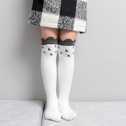 fc0e03c0fe7f4 Korean Cartoon Children Socks Fashion Casual Girls Knit Knee High Socks  Athletic student Socks Kids Sock kids designer clothes girls A4996