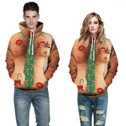 christmas pullover men Canada - Hoodies Men Women Designer Sexy Sweatshirts Hooded Xmas Santa Claus Pullovers 3D Christmas Holiday