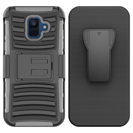 hybrid robot combo phone case NZ - For Motorola MOTO E5 play G6 plus E5 plus Hybrid Armor Case robot cover Combo Heavy Duty With Clip phone case Oppbag