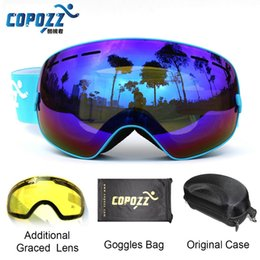 $enCountryForm.capitalKeyWord Australia - COPOZZ Ski Goggles with Case & Yellow Lens UV400 Anti-fog Spherical ski glasses skiing men women snow goggles + Lens + Box Set