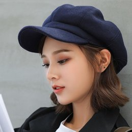 painters hats berets NZ - New Women Wool Beret Vintage Solid Color Stylish Artist Painter Newsboy Caps Autumn Winter Octagonal Hat Cap