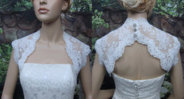 boleros champagne for wedding dresses NZ - 2019 High-end Lace Wedding Bridal Jackets Bolero Applique Crystal Bottom Keyhole Back Cheap Wedding Wrap For Wedding Dress Gowns Plus size