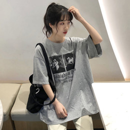 $enCountryForm.capitalKeyWord Australia - 3 Colors Mihoshop Ulzzang Korean Korea Women Fashion Clothing Summer Cartoon Punk Harajuku High Street Gray T shirt
