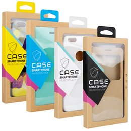 Iphone case package paper online shopping - Fashion Universal generic retail package box for iphone X S plus cell phone case package kraft paper box packaging phone cover