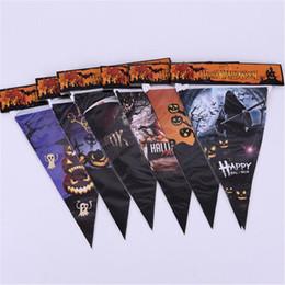 $enCountryForm.capitalKeyWord Australia - Halloween Items Decoration Props Skull Banner Pumpkin Ghost Head Flag Carnival Oranment Funny Toys Party Banner Novelty Accessory