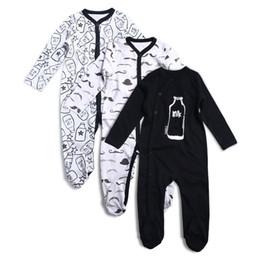 $enCountryForm.capitalKeyWord UK - 3pcs Newborn Baby Boy Girl Rompers Long Sleeve Cotton Embroider Jumpsuit Unisex Baby Clothing Set Kids Pajamas Sets Printed J190524